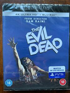 The Evil Dead UHD 4K + Blu-ray 1981 Cult Horror Movie Video Nasty Clasic BNIB