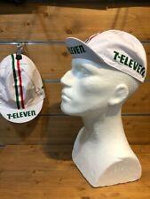 Rennrad Cap 7-Eleven Vintage Cycling Cap Retro Fixiecap weiß