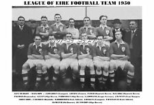 LEAGUE OF EIRE FOOTBALL TEAM PRINT 1950 (IRELAND)