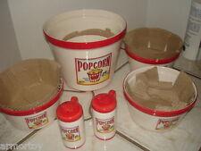 POPCORN Tabletop Gallery 24/7 Popcorn;7 PC Popcorn Set NIB Hand Crafted/Painted