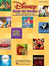 DISNEY MEGA HIT MOVIES EASY PIANO SHEET MUSIC SONG BOOK