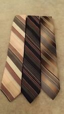 """3 Vintage Starcy Cravats Neck Ties 3"""""""