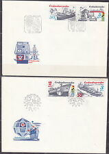 CZECHOSLOVAKIA 1989 FDC SC#2736/41 Shipping Industry