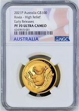 2021 Australian Koala 1oz Gold Proof High Relief $100 COIN NGC PF70 200 MTG ER