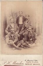 New ListingAntique Cabinet Photograph – Five Victorian Gentlemen – Pateley Bridge