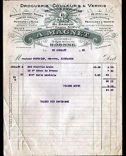 """ROANNE (42) DROGUERIE PEINTURES & VERNIS """"DUPUY / A. MAGNET Succ"""" en 1929"""