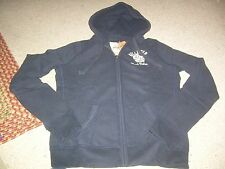 HOLLISTER Navy Beach Relay Zip Front Hoodie Coat Jacket L NWT NEW FREE SHIP