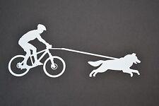 SLED DOG SPIRIT BIKE JOR BIKEJORING HUSKIES SIBERIAN HUSKY STICKER DECAL MUSH