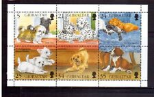 GIBRALTAR 1996 Puppies min sheet MUH