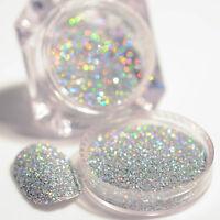 2g/Box Holographic Nagel Kunst Holo Glitter Puder Deko Maniküre Herrlich DIY