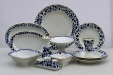 Dinner set 6/33 pcs BLUE BELLS Cobalt &22K-gold Lomonosov Porcelain, Russia