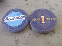 """Blue Moon Bar Coasters. You Receive """"40"""" Coasters Free Shipping"""