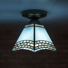 Tiffany Blue Pyramid Corridor Ceiling Pendant Light Balcony Bedroom Ceiling Lamp