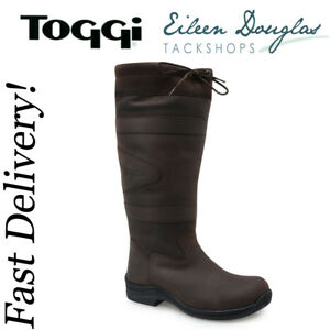 Toggi Canyon Waterproof Long Country Boots Leather Riding Brown or Black