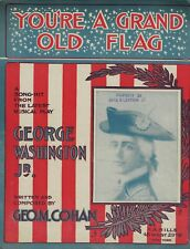 "George M. Cohan ""GEORGE WASHINGTON JR."" Large Format 1906 Broadway Sheet Music"