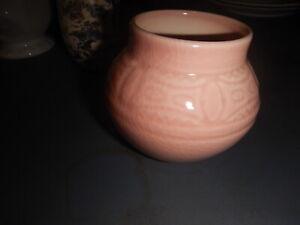 Rookwood pottery vase pink nice design 1957 old estate
