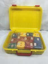 Vintage 1990s Sealed Case of Classic Letters Numbers Fao Schwarz Yellow Red Blue