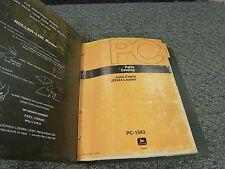 John Deere 444 Wheel Loader Tractor Bucket Parts Catalog Manual Pc1583