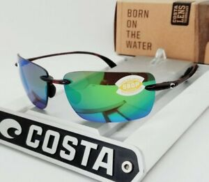"""COSTA DEL MAR tortoise/green mirror """"GULF SHORE"""" POLARIZED 580P sunglasses! NEW!"""