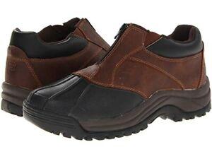Propet Blizzard Ankle Zip M3786 Boot - Men's Size 15 X(3E), Brown/Black NEW