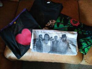 Vintage 80s music memorabilia Scottish Tour T-shirts
