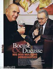 COUPURE DE PRESSE CLIPPING 2007 Bocuse & Ducasse    (3 pages)