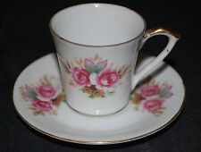 SAJI Made in Japan Floral Demitasse Tea Cup and Saucer