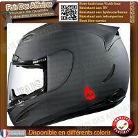 2 stickers autocollant Groupe Sanguin rhesus  O, A, B, AB casque moto , skie