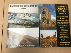 Exploring Cornish Mines Volume 1 & 2 Paperback books (B4)