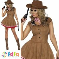 WESTERN SEXY WILD WEST RODEO COWGIRL - 8-18 - womens ladies fancy dress costume