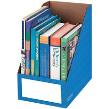 "Fellowes Magazine File Holder Ltr 8""x11-3/4""x12-3/4"" Blue 3380901"