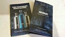 ONE  Absolut Electrik Vodka recipe booklet..