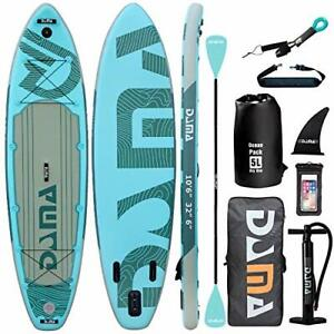 """DAMA 10'6""""x32""""x6"""" Premium Inflatable Stand Up Paddle Board (6 inches Thick) with"""