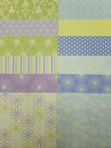 """12 x Dovecraft Back To Basics 4 Papers 6""""x 6"""" For Cardmaking"""