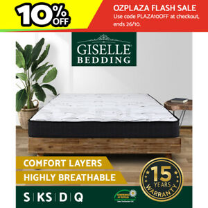 Giselle Mattress Queen Double King Single Bed Size Firm Foam Bonnell Spring 16cm