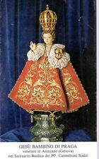 835/C Gesù Bambino di Praga   Santino HolyCard