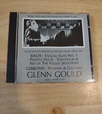 """GLENN GOULD """"1956 & 1967 Broadcast Recitals"""" 1987 Music and Arts CD OOP"""