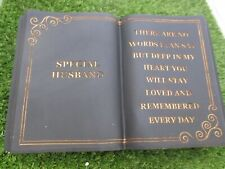 Special Husband Memorial graveside book in black granite effect