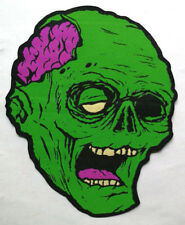 PATCH -  Zombie - HORROR / Monster / Halloween Woven patch - iron-on  - Brains!