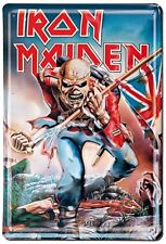 Iron Maiden The Trooper con Relieve Acero Signo 300mm X 200mm ( Lsh )