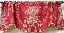 COUNTRY HOUSE BY WAVERLY WINDOW VALANCE / SCALLOPED FRENCH COUNTRY VALANCE