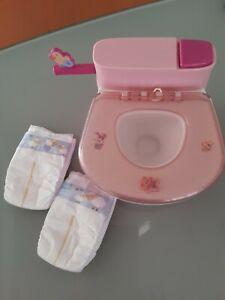 Baby Born Toilette mit  Funktion und 2 Pampers so schön