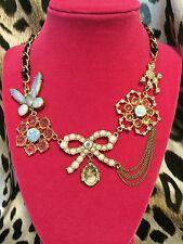 Betsey Johnson Vintage School of Dance Snowflake Ballerina Poodle Pearl Necklace