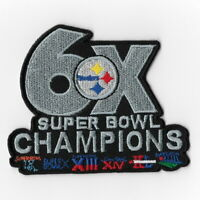 Pittsburgh Steelers 6X Super Bowl Champions Iron on Patches Embroidered Patch FN