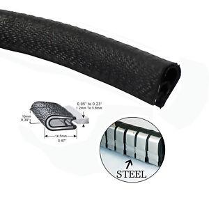 Metal Clip Rubber Edge Seal Trim Strip Cars Edge Fixed Protector Crashproof 12M
