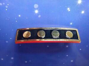 Star Trek Admiral Metal Rank Pips Pin Insignia Set DS9 Voyager TNG Movie Type