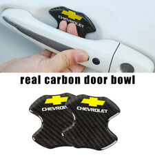 CHEVROLET Real Carbon Anti Scratch Badge Door Handle Bowl Cover