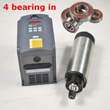 FOUR BEARING 1.5KW ER11 AIR COOLED SPINDLE MOTOR & 1.5KW INVERTER DRIVER CE