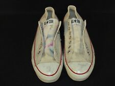 Vintage CONVERSE All Star Chuck Taylor White Low Tops Men's Size 9.5 Made in USA