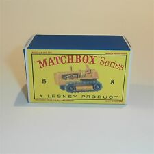 Matchbox Lesney 8 c Caterpillar Tractor empty Repro D style Box
